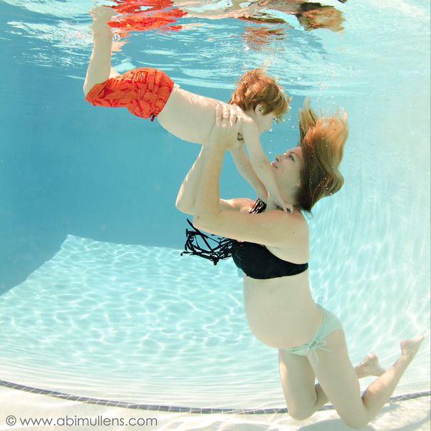 Underwater Pregnancy Announcement