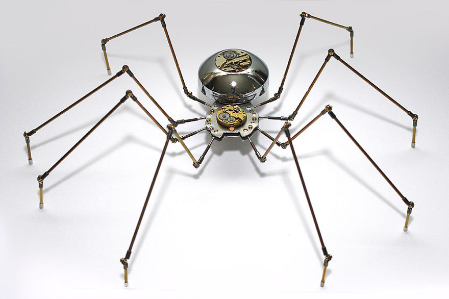 Spider Sculpture Made From Recycled Materials
