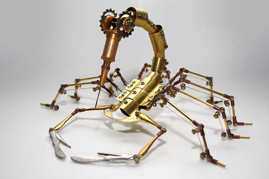 Scorpion Sculpture Made From Recycled Materials