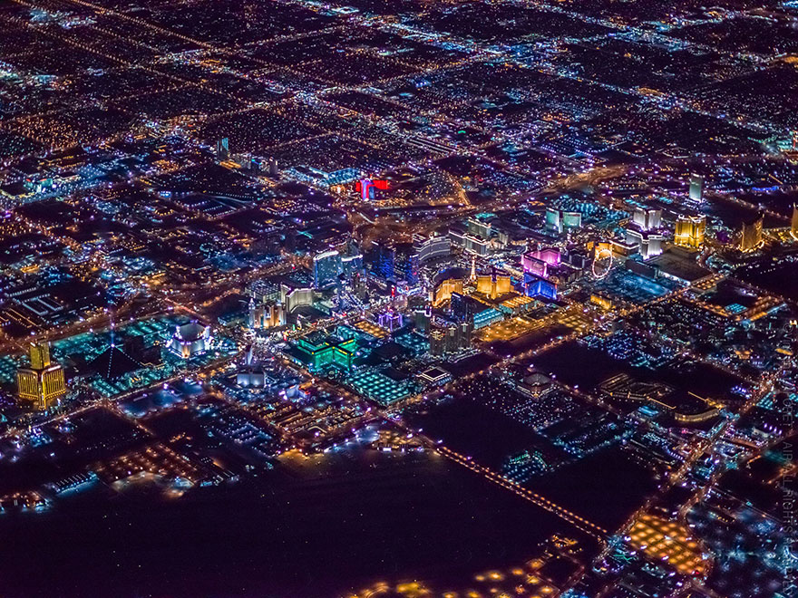 Las Vegas From 10 800 Feet Up Looks Like Nothing You Ve
