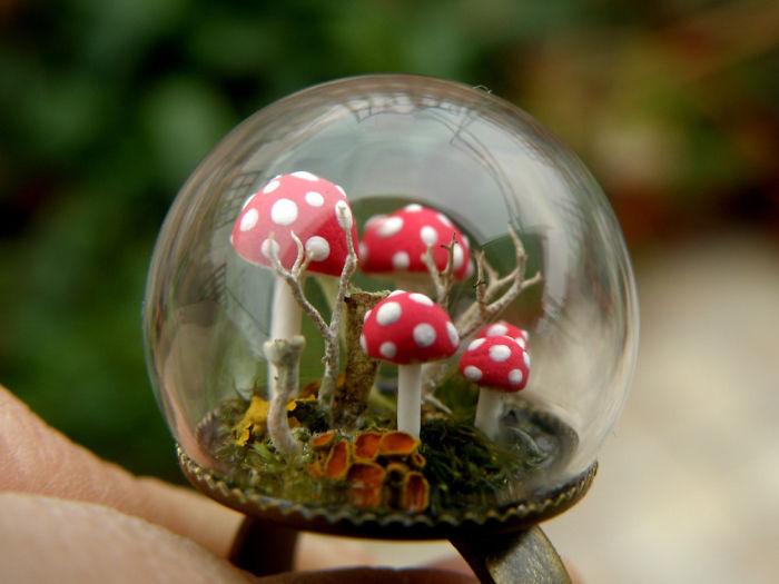 Amanita Mushroom Ring