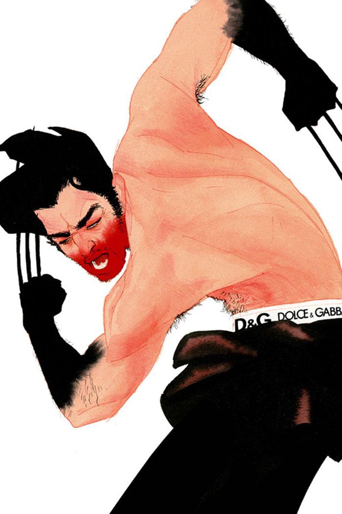 Kevin Wada Draws Marvel Superheroes As Sleek And Smug Fashion Models