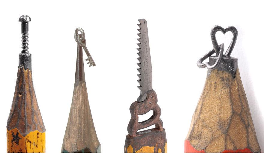 Tiny Pencil Tip Sculptures