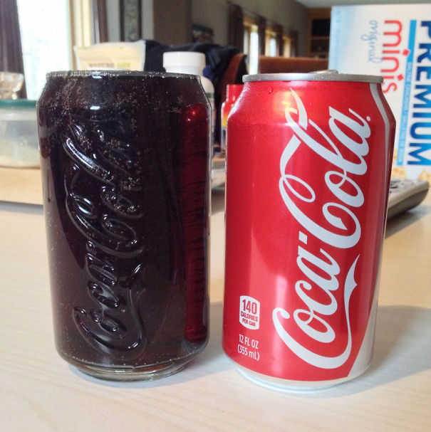 Drink Fits Perfectly Into Coca-Cola Glass
