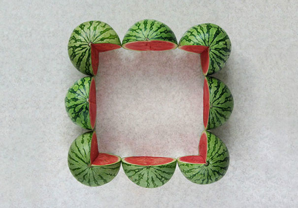 The Way These Watermelons Are Cut