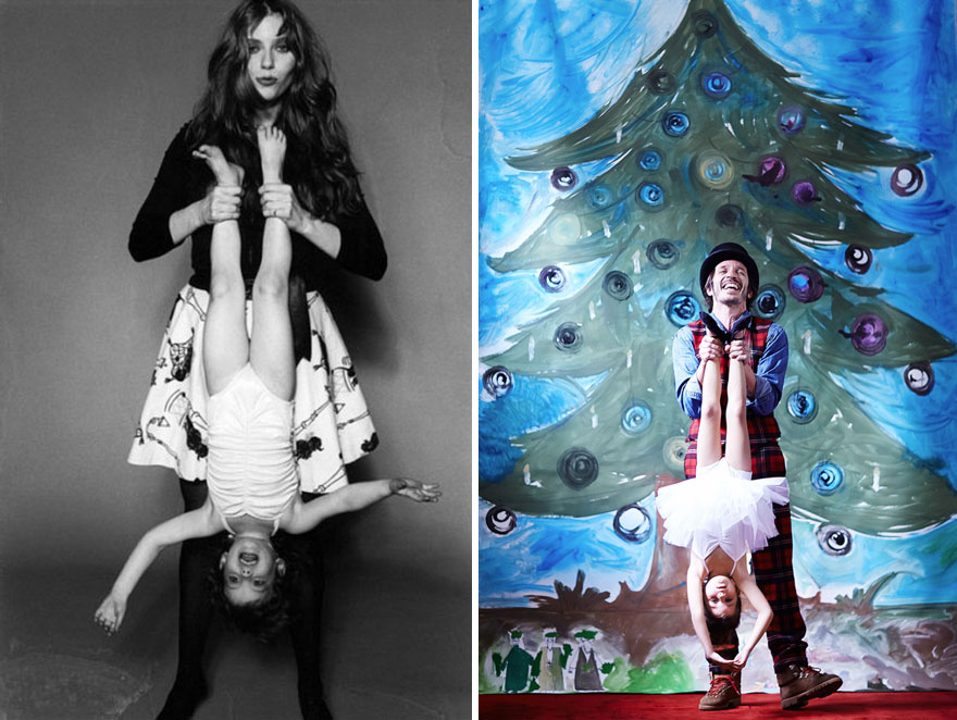 My Heritage And I: Playful Family Portraits Inspired By Vintage Iconic Photos