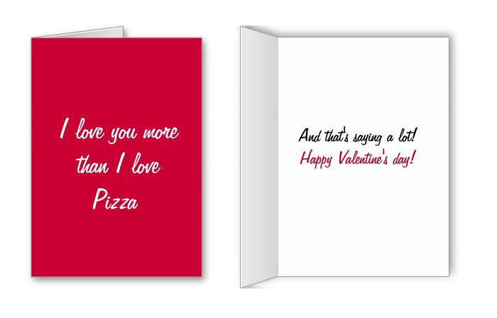 I Love You More Than I Love Pizza From Zazzle