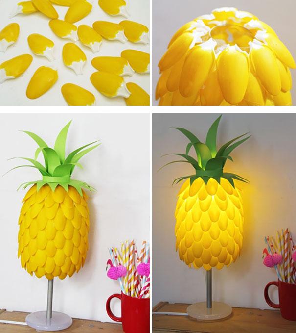 pineapple lamp bored panda. Black Bedroom Furniture Sets. Home Design Ideas
