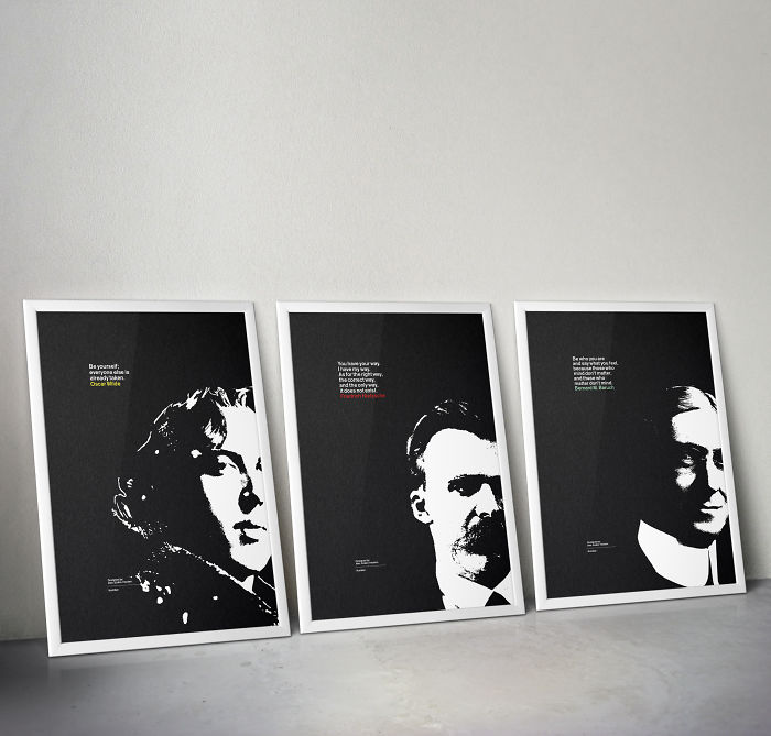 Illustrative Posters Of Philosophers And Great Thinkers