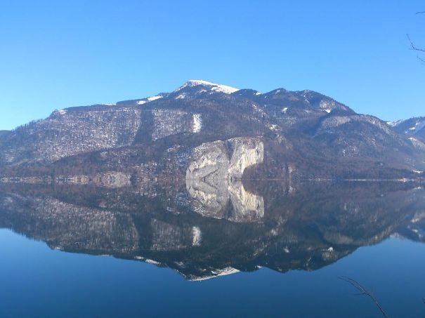 Reflection In Abersee On Our Walk Today :)