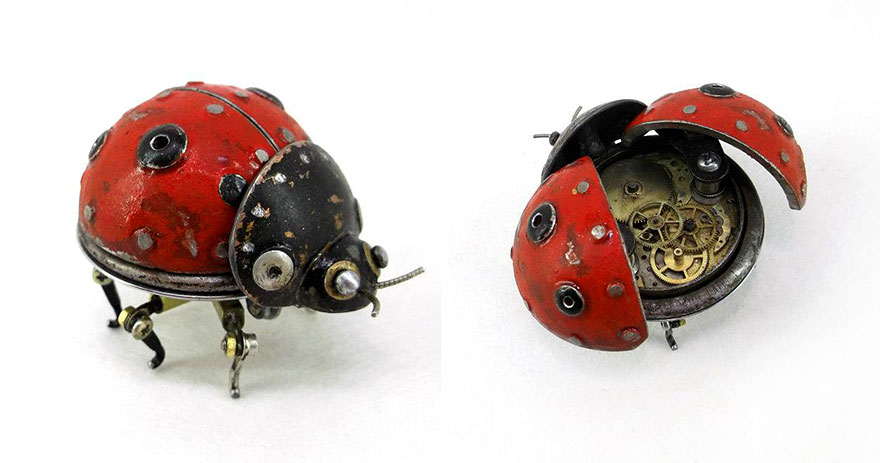 Ladybird Made Out Of Scrap Metal