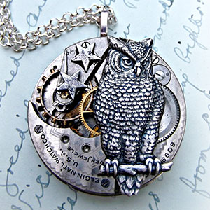 Mother And Daughter Turn Used Antique Pocketwatch Parts Into One-Of-A-Kind Jewelry