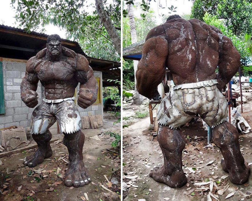 Hulk Sculpture Made Out Of S Metal