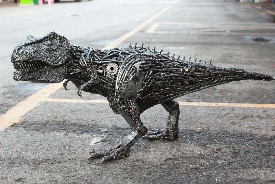 Of the most creative scrap metal sculptures bored panda