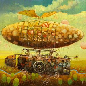 Otherworldly Vehicles In Oil Paintings By Lithuanian Artist Modestas Malinauskas