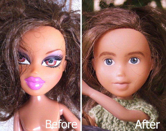Australian Mom Turns Bratz Dolls Into Regular Girls By Removing Their Unrealistic Makeup