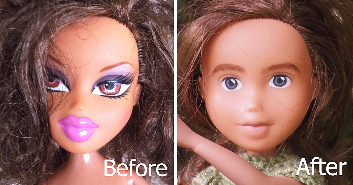 how to draw a sleeping face on a doll