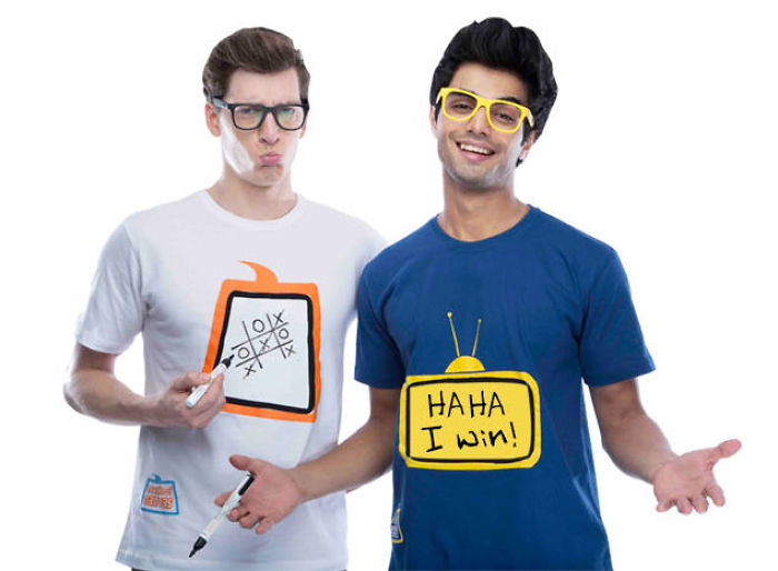 Re-writable T-shirts