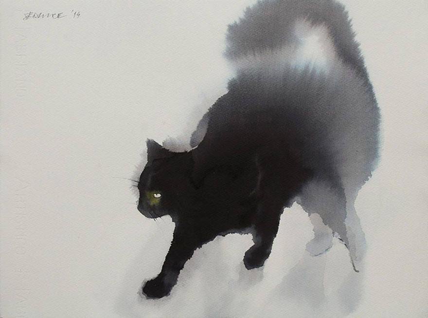 aquarela-black-gatos-tinta-paitings-endre-penovac-1