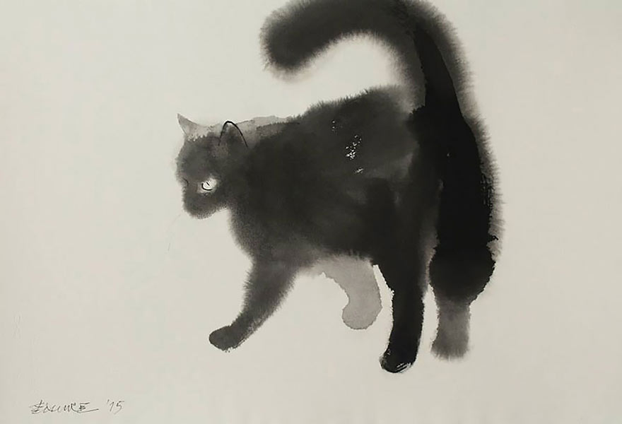 aquarela-black-gatos-tinta-paitings-endre-penovac-11