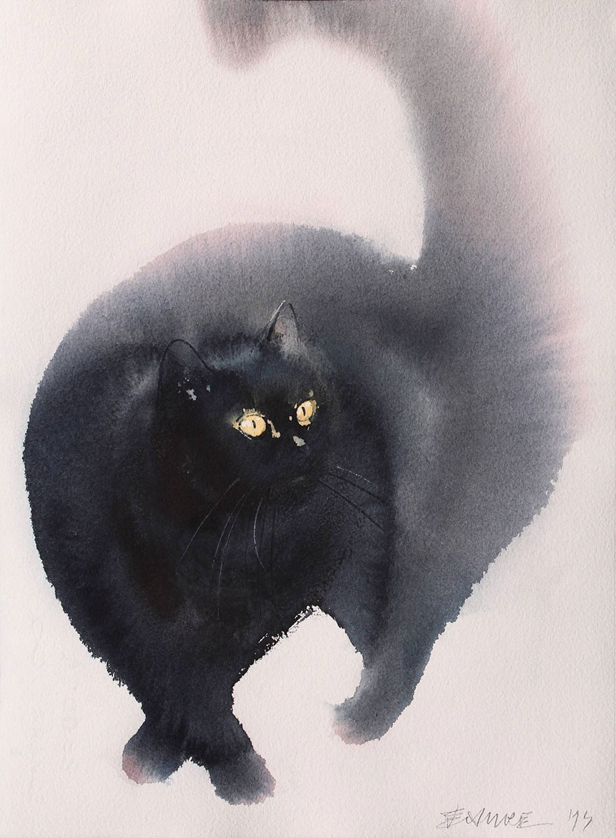 aquarela-black-gatos-tinta-paitings-endre-penovac-12