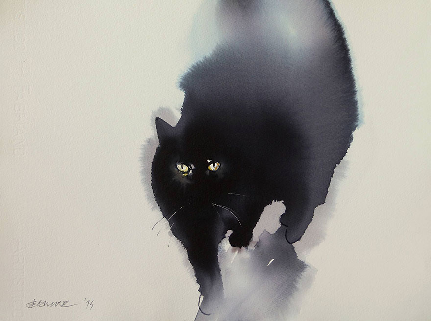 aquarela-black-gatos-tinta-paitings-endre-penovac-3
