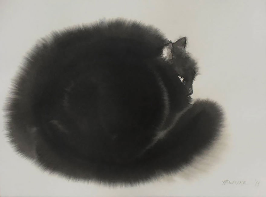 aquarela-black-gatos-tinta-paitings-endre-penovac-4