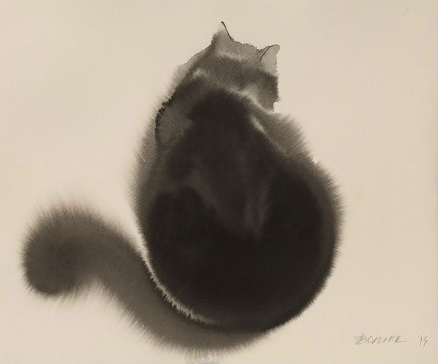aquarela-black-gatos-tinta-paitings-endre-penovac-9