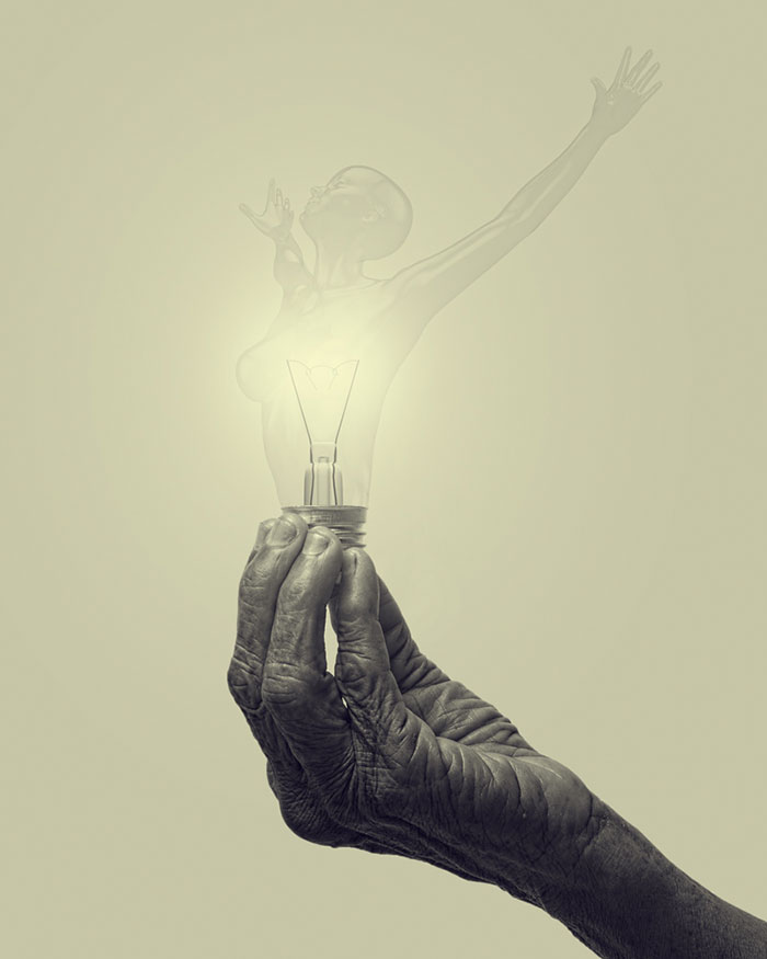 Women Lighting Life: My Creative Light Bulb Illustrations