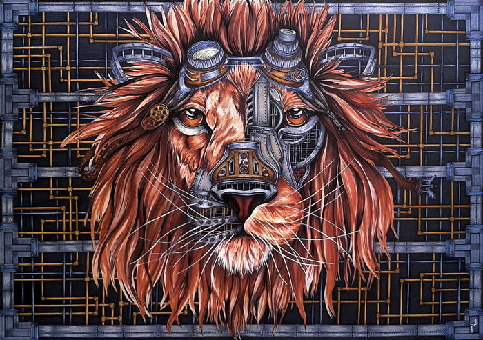 My Drawings And Paintings Of Lions