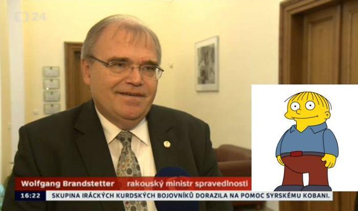 Austrian Justice Minister Looks Like Ralph Wiggum