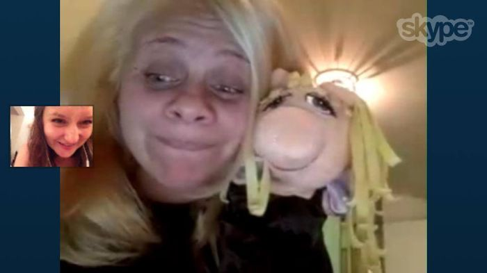 Me And Miss Piggy .... Almost Twins :)))))