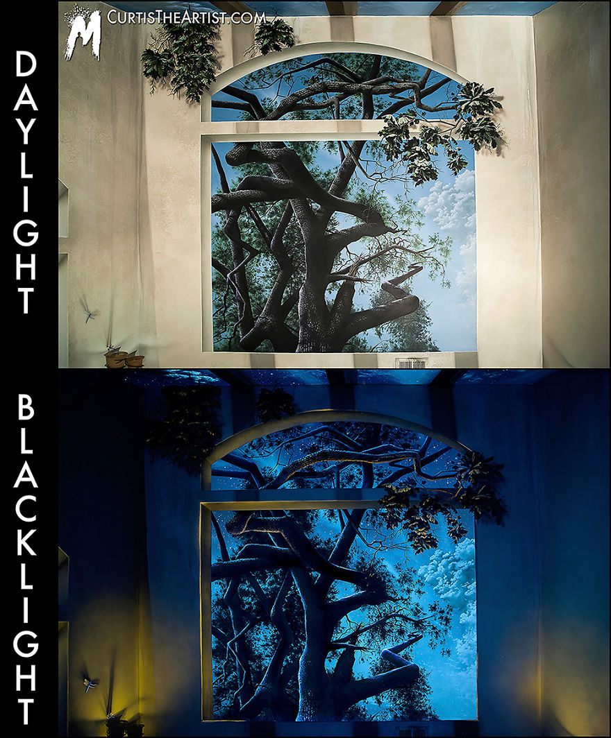 Black light invisible black light murals and uv art for Black light mural