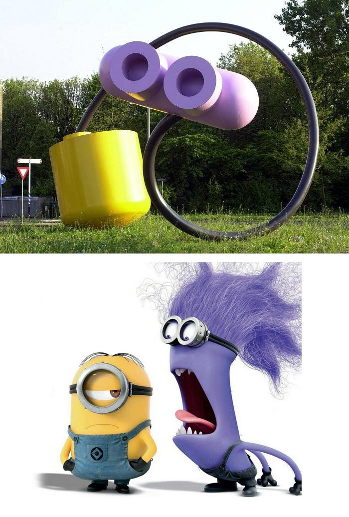 Public Artwork Looks Like Minions