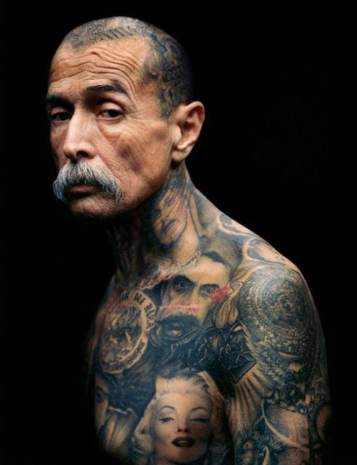 Tattooed Elderly People