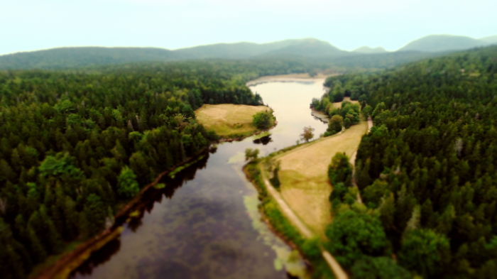 Drone Meets Tilt-shift Photograpy In Acadia National Park