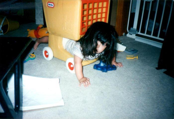 Little Aleena With Her Little Diaper Butt Stuck!