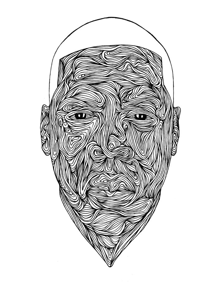 I Draw Portraits With Only Pen And Paper