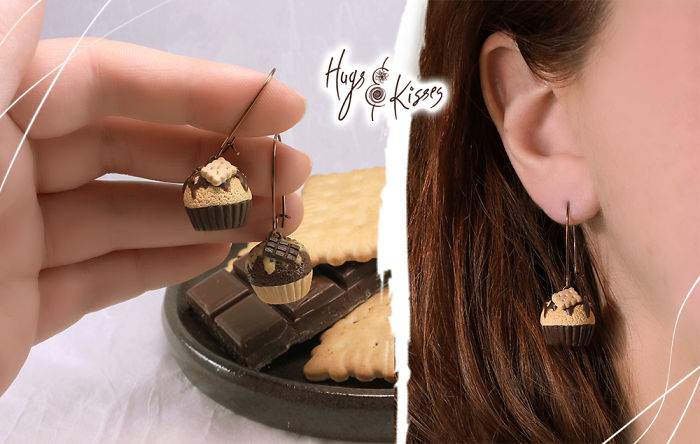 Chocoholic Cupcake Earrings