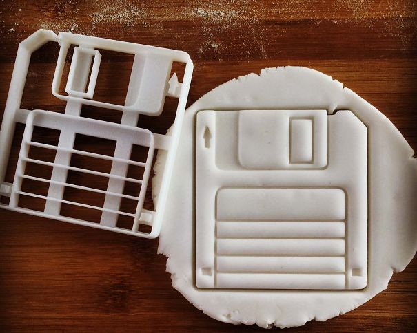 Classic Retro Floppy Disk Cookie Cutter By Made3d