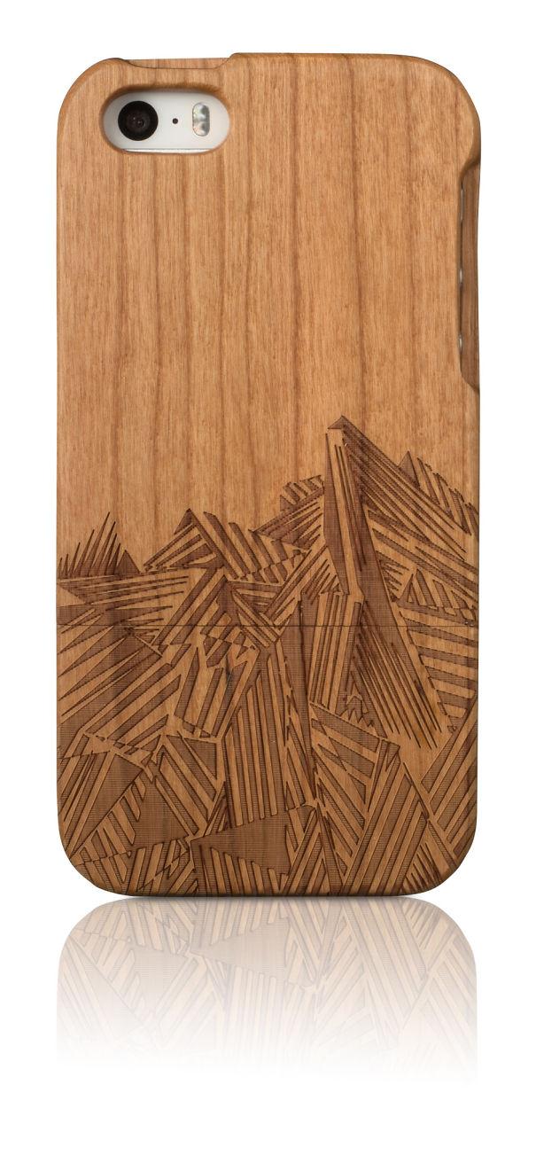 Scandinavian Hipster Geometrical Laser Cut Cherry Wood