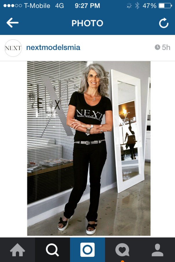 At Next Model Management In Miami Beach.