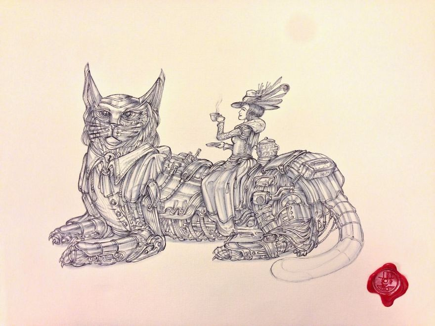 I Draw Detailed Illustrations With A Ballpoint Pen