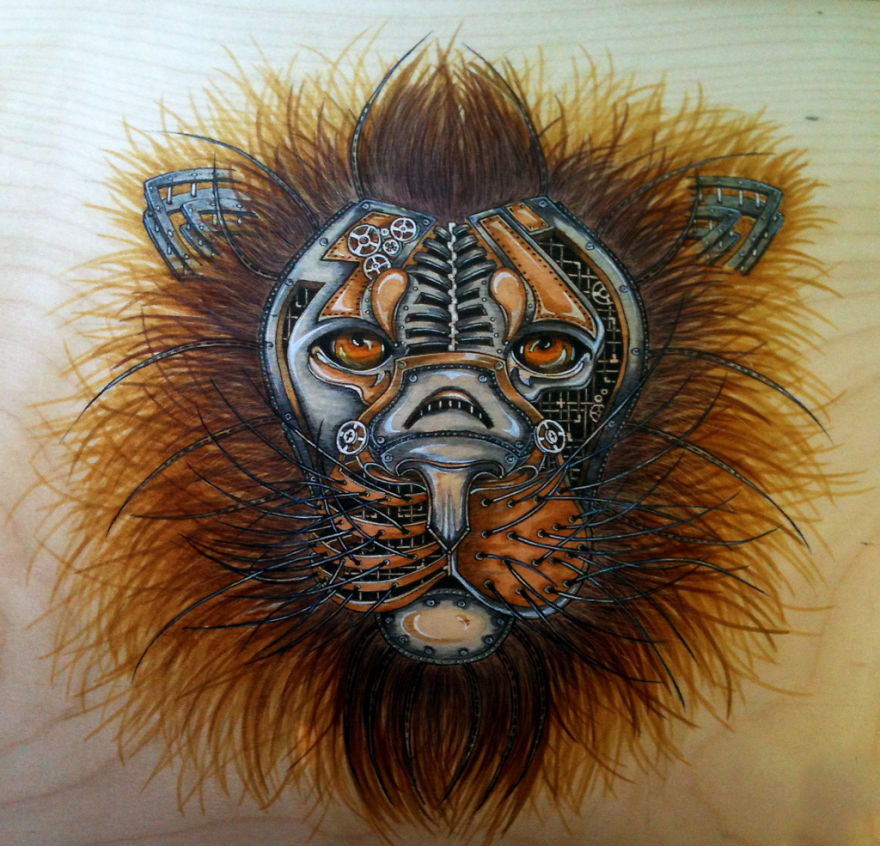 My Drawings And Paintings Of Lions Bored Panda