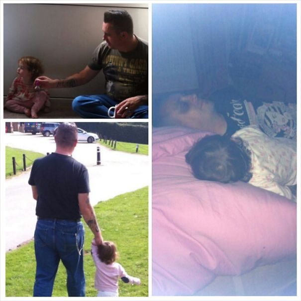 Rockabilly Dad Sticks Up For Girlfriend And Her Daughter And Takes On A Daddy Roll For Life
