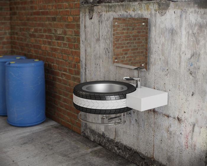 Mac Wheel Wash Basin For Bathrooms & Garage