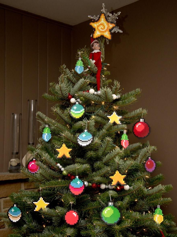 8 Bit Christmas Ornaments