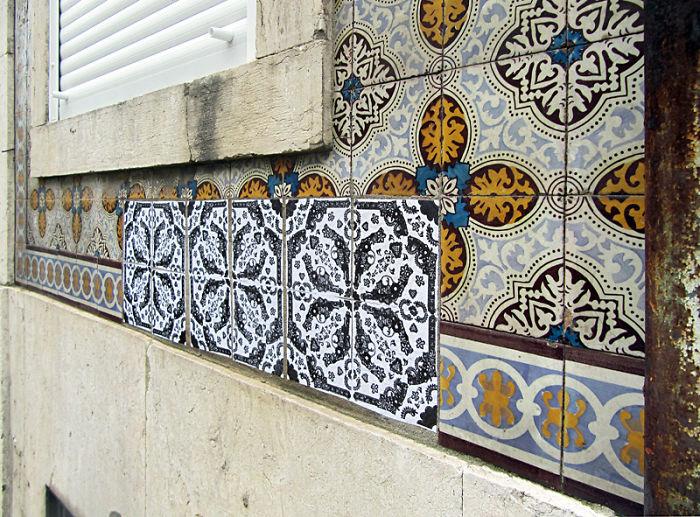 Apposition – Urban Art Intervention By Fábio Carvalho | Lisbon – Portugal