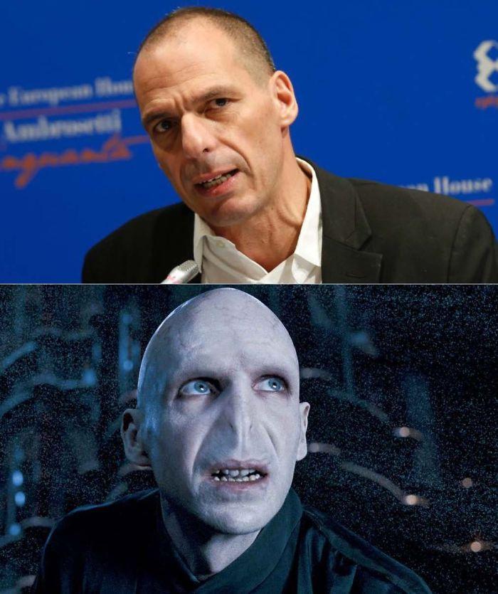 Yanis Varoufakis Looks Like Lord Voldemort
