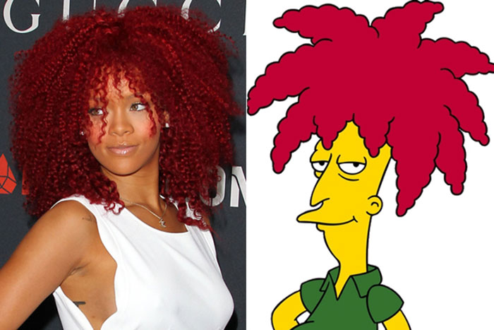 "Rihanna Looks Like Sideshow-bob From ""the Simpsons"""